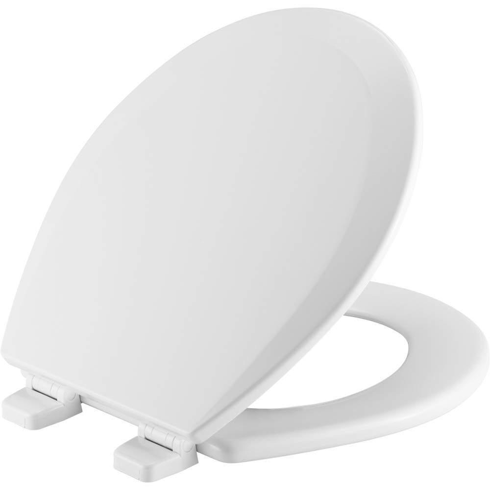 CHURCH 540TTT 000 Toilet Seat will Never Loosen and Provide the Perfect Fit, ROUND, White