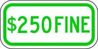 ZING 2364 Eco Parking Sign, 250 Fine, 3M High Intensity Prismatic, Recycled Aluminum