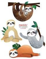 Sloth - Gift Bag Stickers | Gift Tag | Set of 12 | Birthday Party Favors | Tropical | Sloth Birthday, Baby Shower