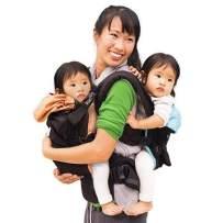 TwinGo Original Baby Carrier (Black, Blue & Orange)