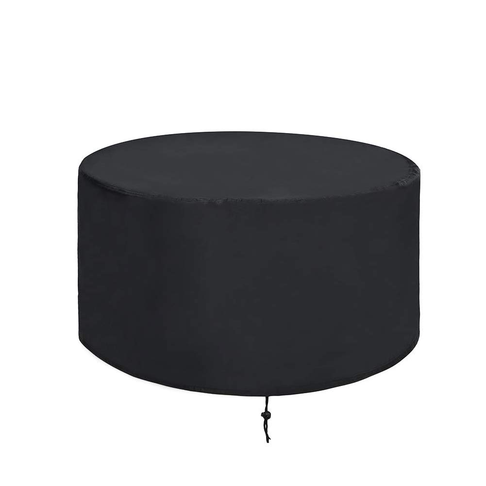 ValueHall Fire Pit Cover Patio Round Bowl Cover Outdoor Furniture Cover Heavy Duty 420D Waterproof Table Cover Outdoor Barbecue Grill Dust Cover V7084A (36 inch)