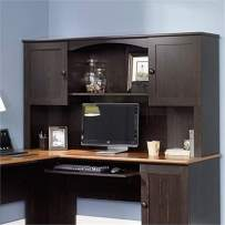 Bowery Hill Home Office Organizer Hutch in Antiqued Paint