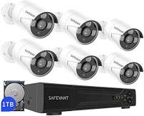 [2020 New] 5MP Home Security Camera System with 1TB Hard Drive,SAFEVANT Super HD DVR Security Systems with 6pcs 2.5×1080P Outdoor Indoor Surveillance Cameras Night Vision Motion Detection