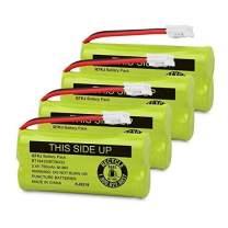 QTKJ Replacement Battery for AT&T BT8001 BT8000 BT8300 BT184342 BT284342 89-1335-0 BT18433 BT28433 BT-1011 CL80109 CL81109 Vtech CS6209 CS6219 CS6229 DS6301 DS6151 DS6101 BT-1018 BT-1022 (4-Pack)