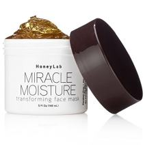 Honeylab Miracle Moisture Honey Facial Mask for wrinkles and fine lines with Manuka Honey, Propolis, Witch Hazel. Firms the look of sagging skin. Large 5oz jar.