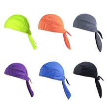 Groupcow 6 Pieces Wicking Beanie Cap Adjustable Outdoor Head Wrap Cycling Hat Motorcycle Biker Cap