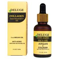 COLLAGEN FACE OIL WITH ARGAN OIL 100% NATURAL – FINE LINES, WRINKLES, ANTI- AGING FACIAL OIL. SMOOTHING AND FIRMING SKIN CARE TREATMENT, NATURE'S MOST POTENT BOTANICAL INGREDIENTS