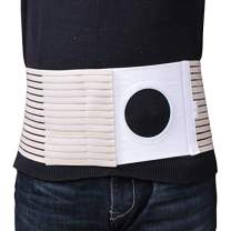 """Ostomy Belt Colostomy Belt (Hole 3.14"""") Medical Stoma Support Ostomy Hernia Belt Ostomy Hernia Belt Stomach Truss Binder with Compression Support (XL: 45.28''-49.21'')"""