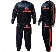 FIGHTSENSE MMA Sauna Sweat Suit Non Rip Track Weight Loss Slimming Fitness Gym Exercise Training