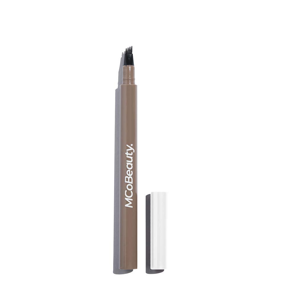 MCoBeauty Tattoo Eyebrow Microblading Ink Pen - Micro-fork Tip Applicator for Hair-like Defined Brows | Light Medium