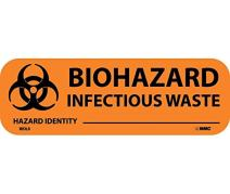National Marker Corp. WOL6 Biohazard-Infectious Waste Write-On Label