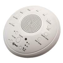SonTech - White Noise Sound Machine - 10 Natural Soothing Sound Tracks Home, Office, Travel, Baby – Multiple Timer Settings - Battery or Adapter Charging Options