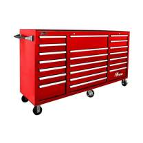 Homak H2PRO Series 72-Inch 21-Drawer Rolling Cabinet, Red, RD04021720