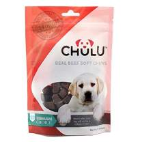 Chulu Natural Dog Treats Made in The USA - Soft, Dog Treat & Biscuits for Small and Large Dogs - Perfect As Training Treats & Chews with Mouthwatering, Real Beef - 8oz Bag