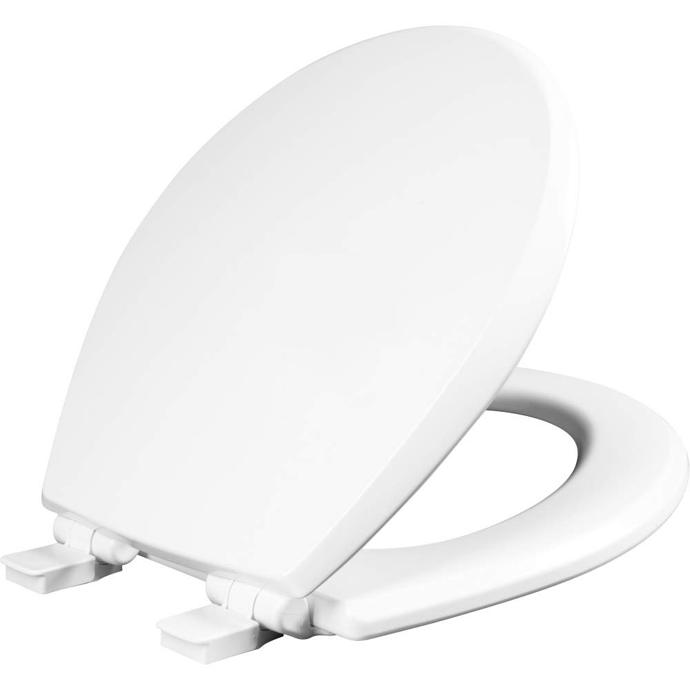 MAYFAIR 847SLOW 000 Kendall Slow-Close, Removable Enameled Wood Toilet Seat that will Never Loosen, ROUND, White