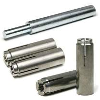 "Stainless Steel Concrete & Stone Drop in Female Expansion Anchors with Setting Tool 5/8""-11 x 2-1/2"" Qty 10"