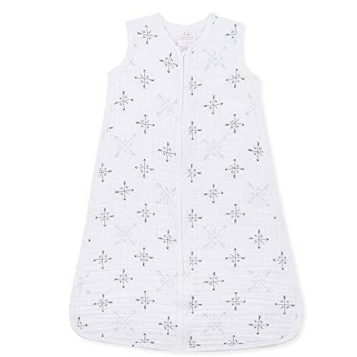 aden + anais Classic Sleeping Bag, 100% Cotton Muslin, Wearable Baby Blanket, Lovestruck, Medium, 6-12 Months