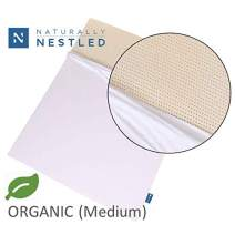 Certified Organic 100% Natural Latex Mattress Topper - Medium - 2 Inch - King Size - Organic Cover Included.