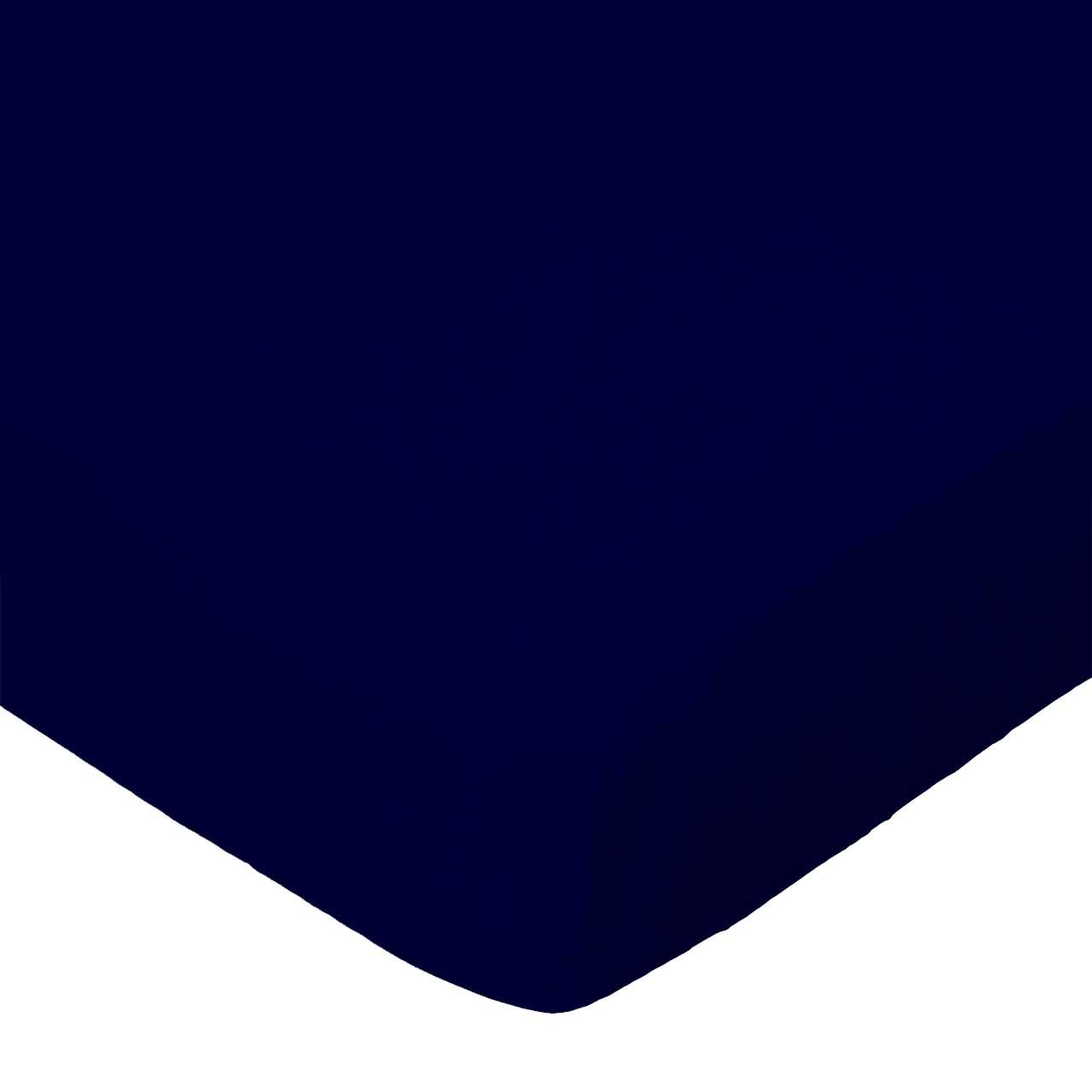 SheetWorld Fitted Sheet (Fits BabyBjorn Travel Crib Light) - Solid Navy Woven - Made In USA