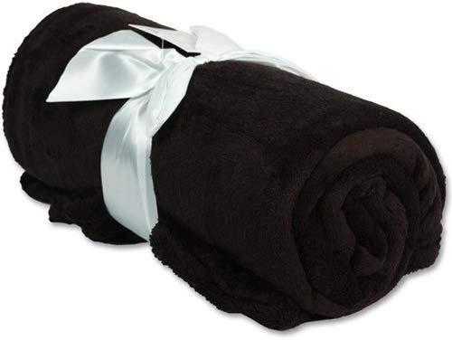 "Threadart Super Soft Ultra Plush Fleece Throw Blankets 50""x60"" | Fuzzy Soft Cozy Microfiber | Black | 11 Colors Available"