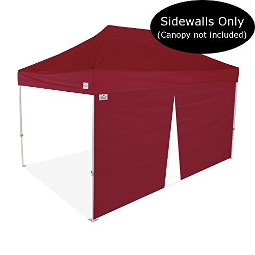 Impact Canopy 15-Foot Canopy Tent Wall with Middle Zipper, Sidewall Only, Burgundy