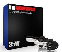 HID-Warehouse AC HID OE Xenon Replacement Bulbs - D2S / D2R / D2C - 6000K Light Blue (1 Pair) - 2 Year Warranty (Metal Bracket)