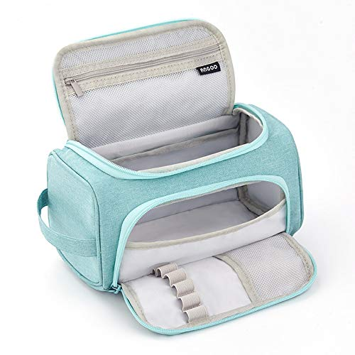 Friinder Big Capacity Multiple Use Pencil Bag, Large Storage Simple Stationery Organizer, Pen Marker Pouch for Adults, Office Business Easter Spring Gift, Cosmetics Pouch Makeup Bag(Mint Green)