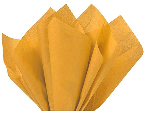 Flexicore Packaging  Noble Gold Gift Wrap Tissue Paper   Size: 15 Inch X 20 Inch   Count: 10 Sheets   Color: Noble Gold   DIY Craft, Art, Wrapping, Crepe, Decorations, Pom Pom, Packing & Party