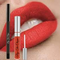 "Premium Long Lasting Red Matte Lip Kit |""Accept This Rose?"" Ultra Wear Cliquestick Lipstick and Liner Pencil Set"