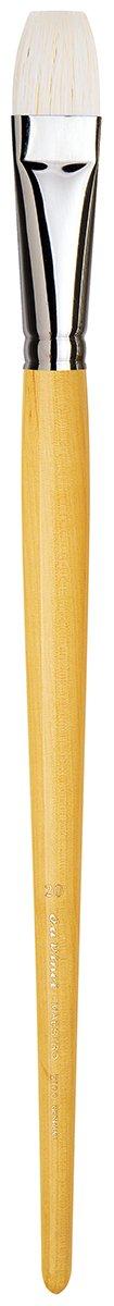 da Vinci Hog Bristle Series 7100 Maestro Artist Paint Brush, Bright Medium-Length Hand-Interlocked with Natural Polished Handle, Size 20