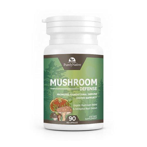 Mushroom Defense - Powerful Organic Multi Mushroom Complex Supplement, Supports Overall Immune System Health with Turkey Tail, Lion's Mane, Maitake, Reishi, and Cordyceps, Non-GMO & Vegan