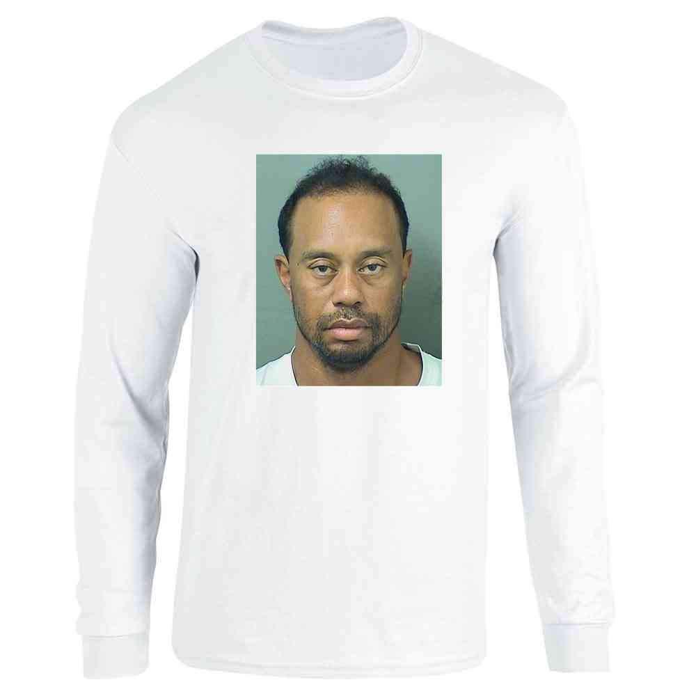 Celebrity Mugshot Apparel Funny Golf Vintage Cool Full Long Sleeve Tee T-Shirt