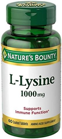 Nature's Bounty L-Lysine 1000 mg, 60 Tablets (Pack of 3)