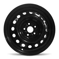 Road Ready Car Wheel for 2000-2005 Toyota Celica 15 Inch Black 5 Lug Steel Rim Fits R15 Tire - Exact OEM Replacement - Full-Size Spare