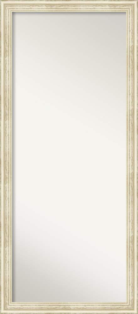 Amanti Art Full Length Mirror | Country White Wash Mirror Full Length | Solid Wood Full Body Mirror | Floor Length Mirror 28.25 x 64.25