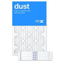 AIRx DUST 16x25x1 MERV 8 Pleated Air Filter - Made in the USA - Box of 6