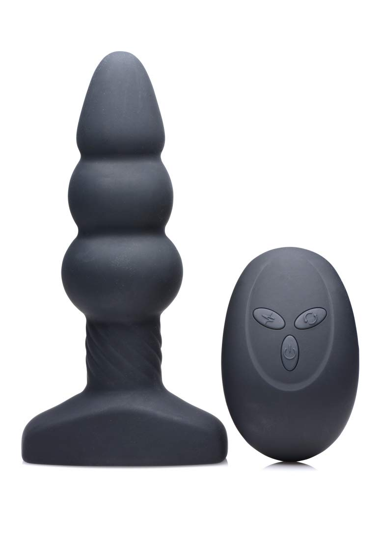 Rimmers Slim I Rippled Rimming Plug with Remote Control