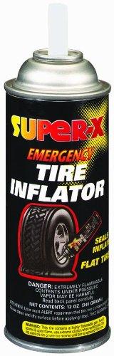 Super-X 659-12PK Emergency Tire Inflator – Tip Applicator - 12-Ounce Aerosol Can, Case of 12