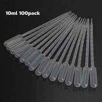 URBEST Transfer Pipettes 100PCS 10ML Liquid Dropper Plastic Pasteur Disposable Graduated Pipetting Clear White