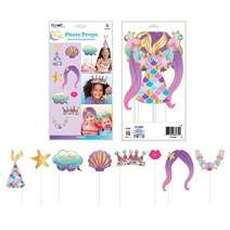 32 Count Mermaid Party Selfie Photo Props Photo Booth Gift for Children Birthday Pool Party by FLOMO