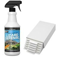 Lizard and Gecko Ellimination kit- for Home Use-Repellent & 6 Glue Boards