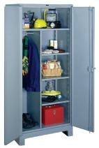 """Lyon DD1121 All Welded Combination Cabinet with 1 Full Width and 4 Half Width Shelves, 36"""" Width x 24"""" Depth x 82"""" Height, Dove Gray"""