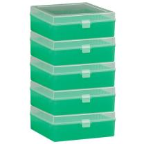 Bel-Art F18851-0013 100-Place Plastic Freezer Storage Boxes; 6 x 5.7 x 2.2 in. H, Green (Pack of 5)