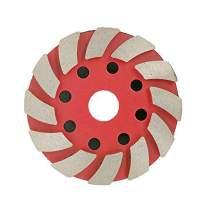 4 Inch Diamond Metal Grinding Pad Grit 100 for Concrete Masonry Work, Floor Stone Aggressive Granite Abrasive Tools