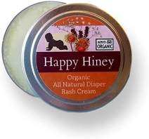 Happy HINEY. Calendula Diaper Rash Salve. 100% Natural and Organic. Hand Crafted in Small Batches. Made with Calendula, Lavender and Shea. Elegantly Gift Packaged! (4)