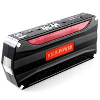 Portable Multi-Function 68800mAh 4 USB Ports Car Jump Starter Power Bank with 12V Storage Battery Wire Clip Rechargable Battery 12V 4 Kinds Lighting Models 3 LED Torch Emergency SOS Fast Flashing Mode
