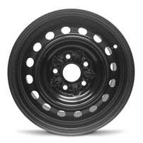 Road Ready Car Wheel for 1998-2003 Toyota Sienna 15 Inch Black 5 Lug Steel Rim Fits R15 Tire - Exact OEM Replacement - Full-Size Spare
