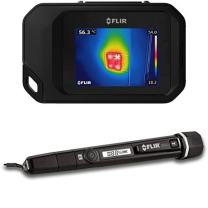 FLIR C3 Pocket Thermal Camera with WiFi and FLIR MR40 Moisture Pen with Built in Flashlight