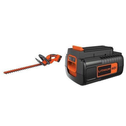 BLACK+DECKER LHT2240CFF Hedge Trimmer + 40-Volt Battery Pack