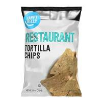 Amazon Brand - Happy Belly Restaurant Tortilla Chips, 10 oz
